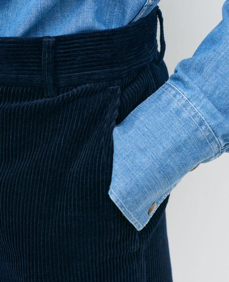 Wide corduroy trousers Night sky Maora