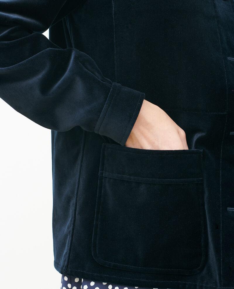 Short velvet jacket Navy deep Palipine