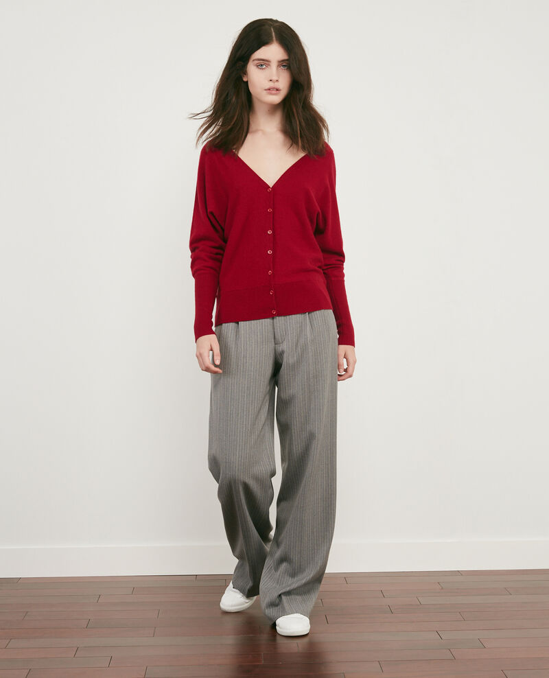 Wool blend wide trousers Grey Declic