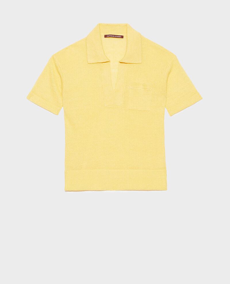 Lightweight linen polo Lemon drop Novella