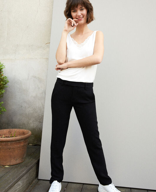 Suit-style trousers Black