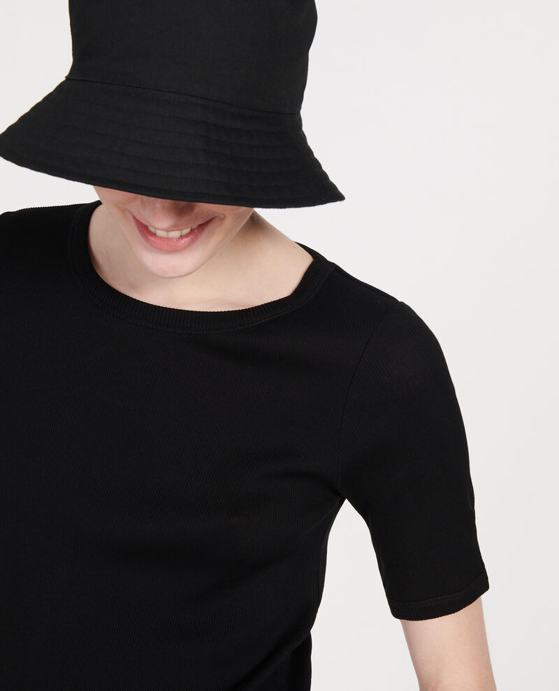Mercerised cotton T-shirt Black beauty Lasso