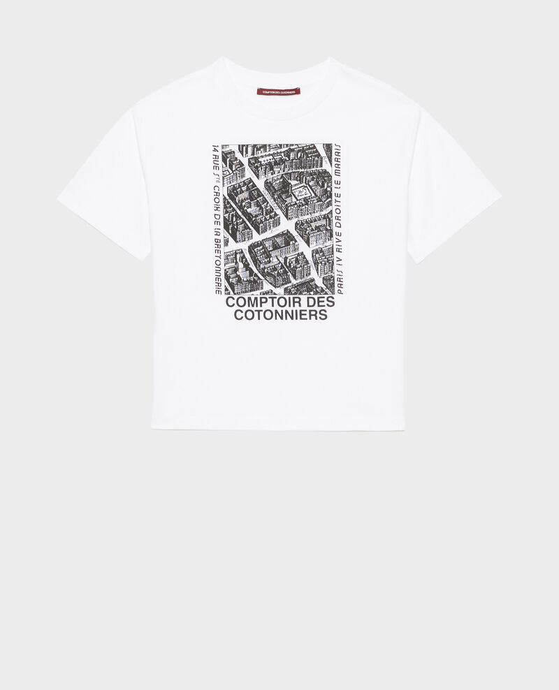 Short-sleeve cotton t-shirt Black beauty Marlane