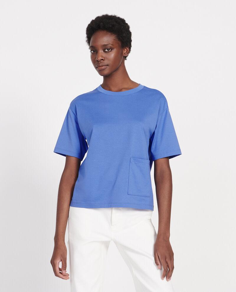 Mercerised cotton Oversize t-shirt Persian jewel Lexana