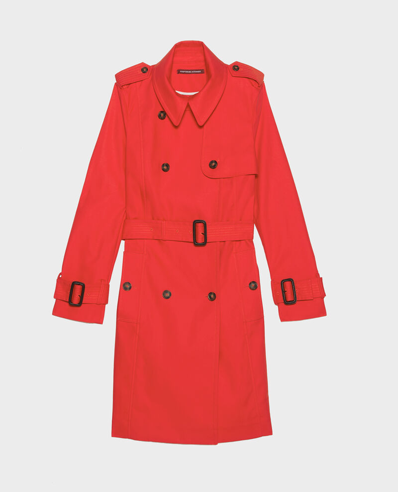 Timeless trench coat Fiery red Lambert