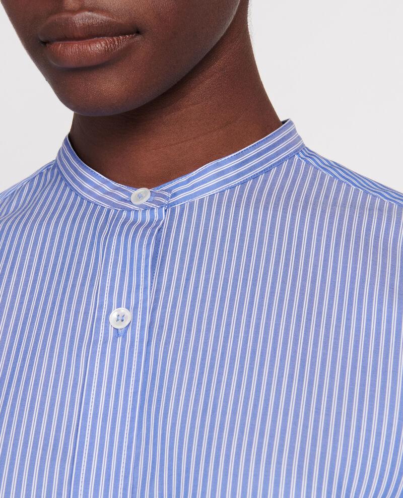 Oversize cotton shirt Popeline stripe2 Lannion