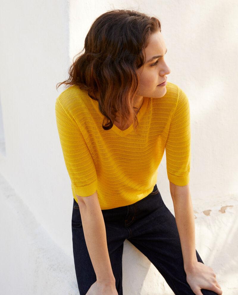Knit t-shirt Spice yellow Ishirt