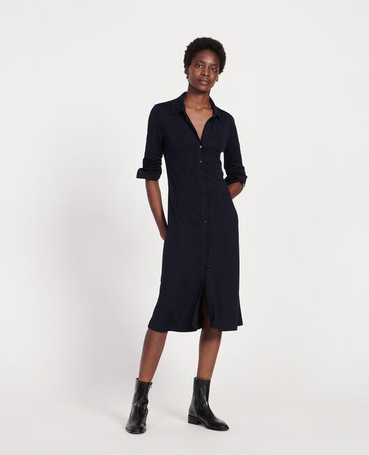 Silk jersey dress MARITIME BLUE