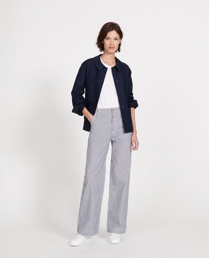 Cotton jacket Maritime blue Louatre