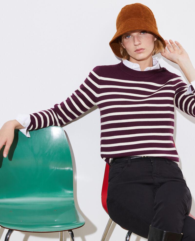 MADDY - Striped merino wool jumper Stp prpl jtst Liselle