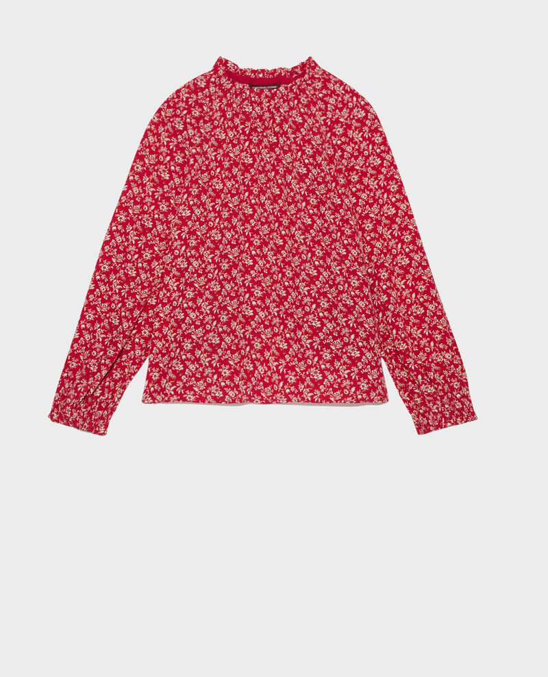 Flowing printed top Indienne red Papiche
