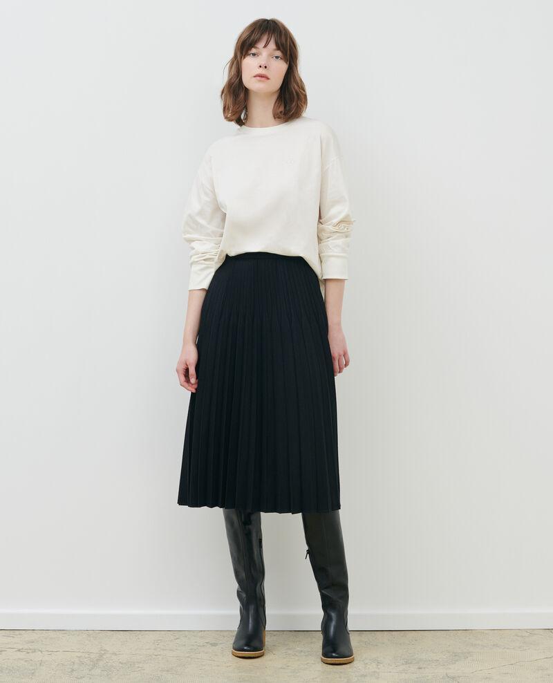 Round neck long-sleeve cotton t-shirt Jet stream Mainzac