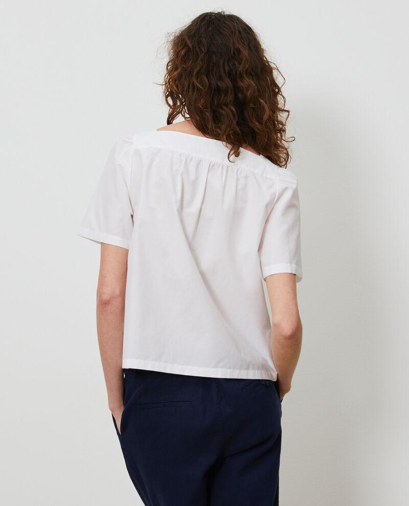 Cotton and silk top Brilliant white Nondo