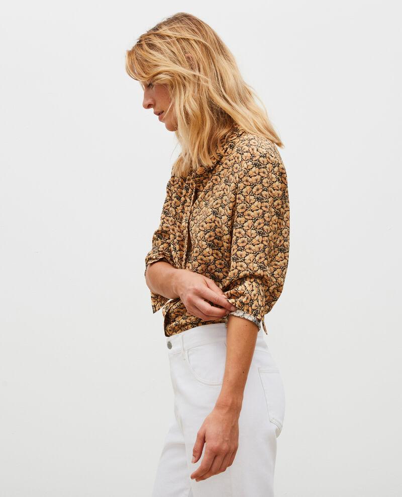 Long-sleeve silk shirt Print artdeco lemoncurry Misabethou