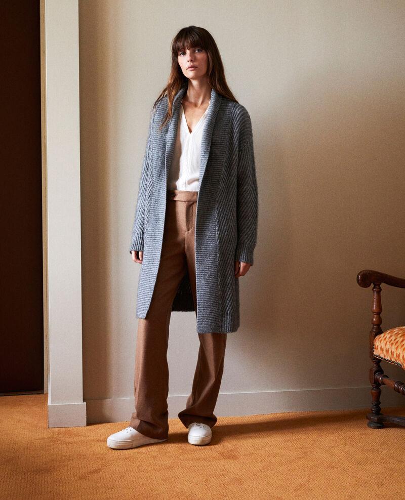 Rib knit jumper Middle grey Jokin