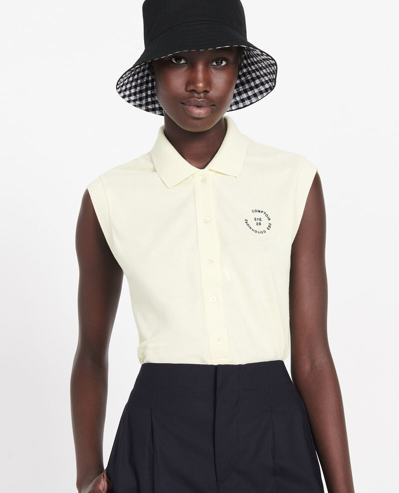 Cotton polo shirt Tender yellow Laurac