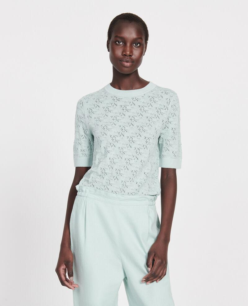 Rib knit t-shirt Blue haze Lagos