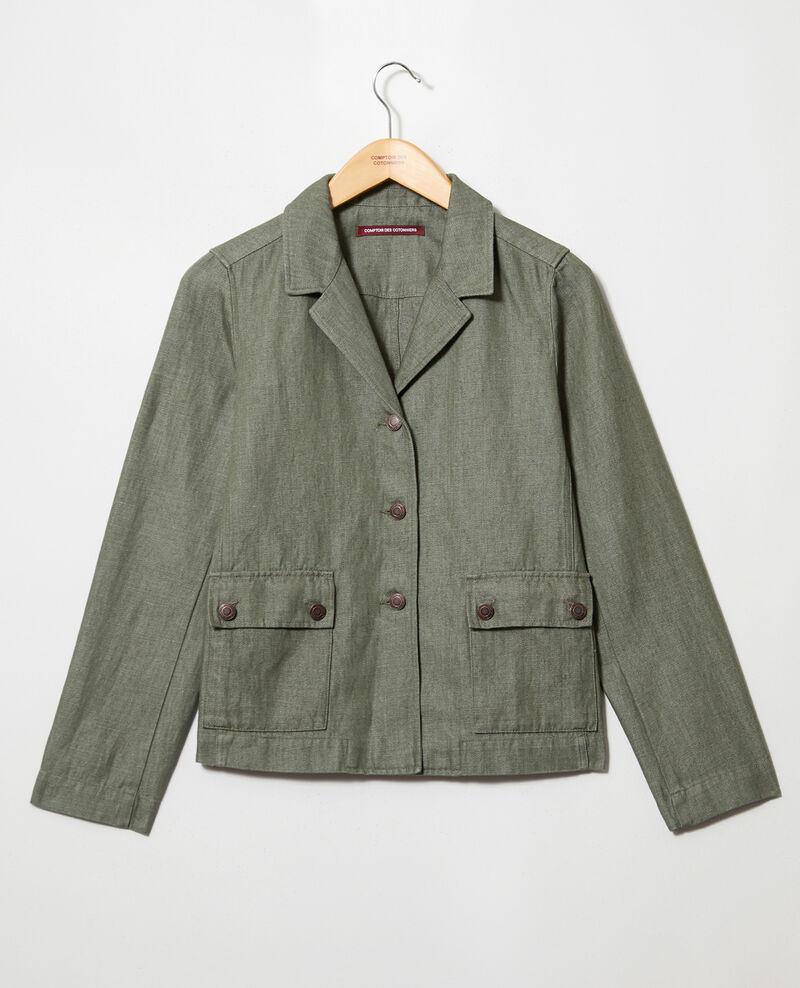 Suit-style jacket Cheng olive Irius