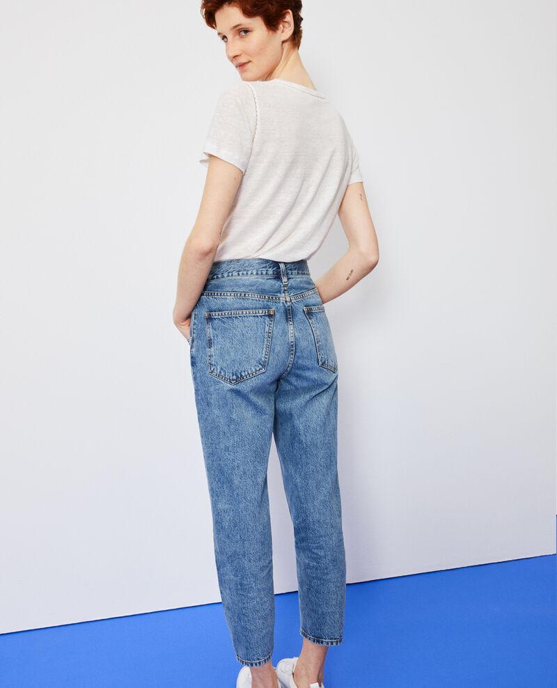 SLOUCHY - Distressed 7/8 jeans Vintage wash Neroneige