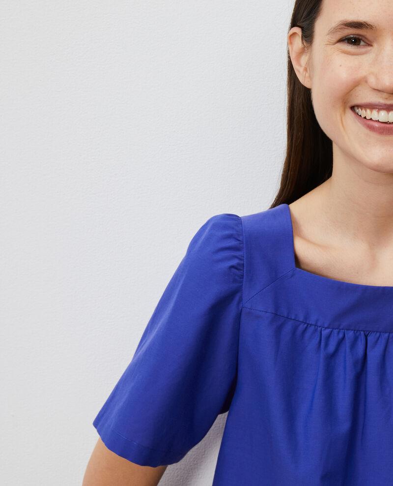 Cotton and silk top Royal blue Nondo