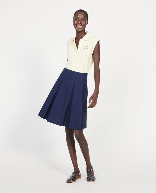 Cotton skirt MARITIME BLUE