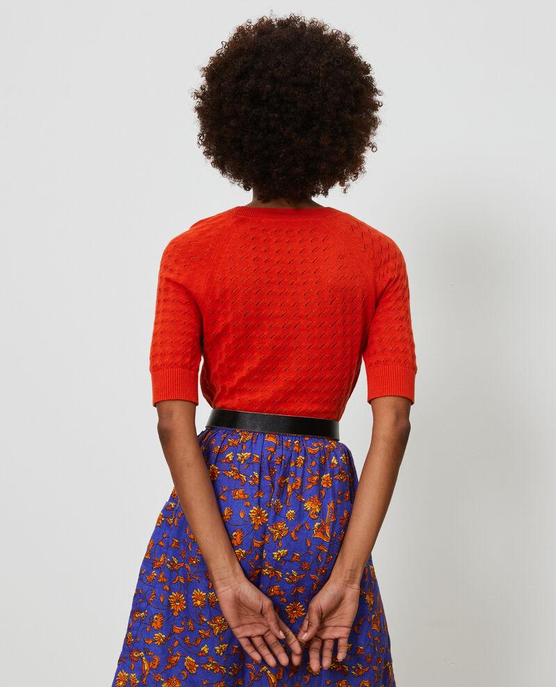 Short-sleeve cotton and linen jacket Pureed pumpkin Novileta