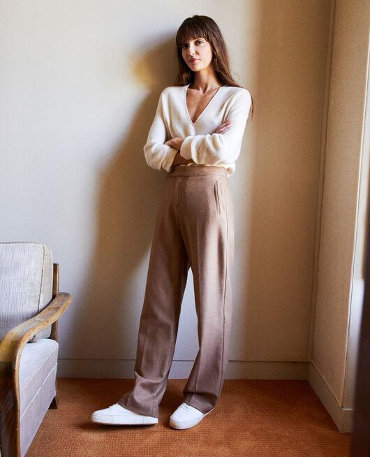 Wool blend suit trousers CAMEL