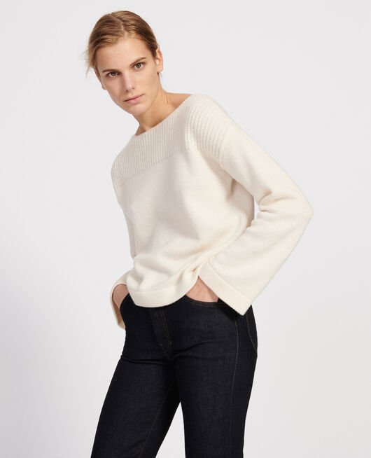 Wool and cashmere jumper BUTTERCREAM