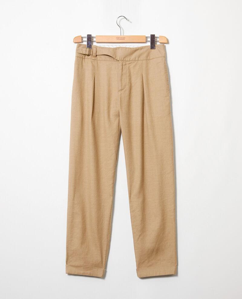 Linen blend trousers Natural beige Inouri