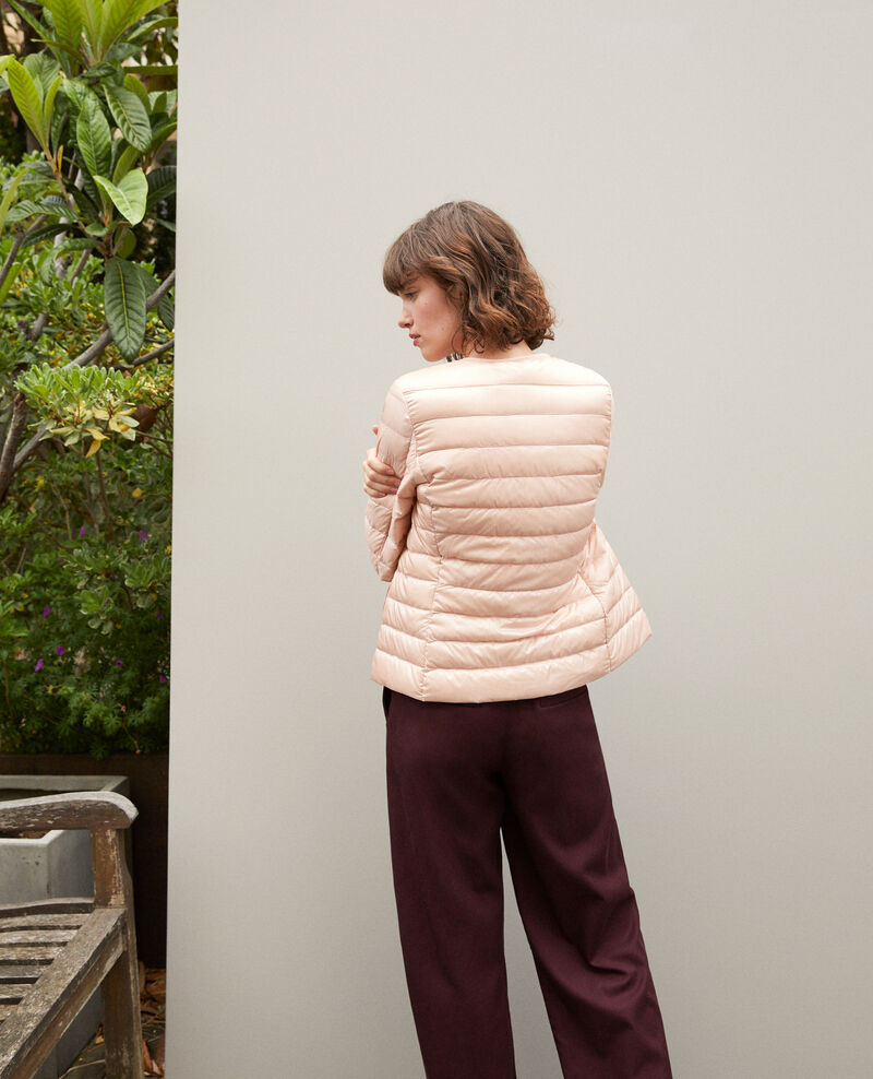 Ultra-light padded jacket with round collar Rose Fildown