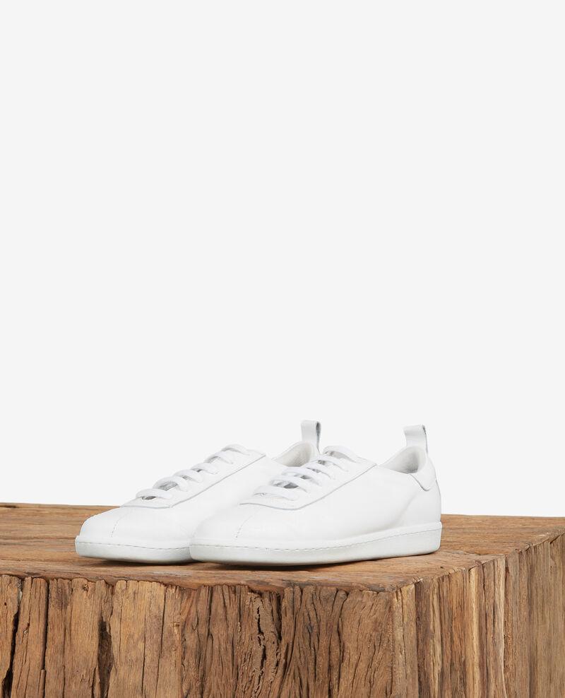 Leather trainers Off white Delaver