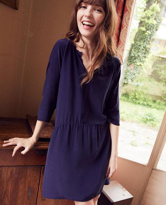 Silk blend dress EVENING BLUE