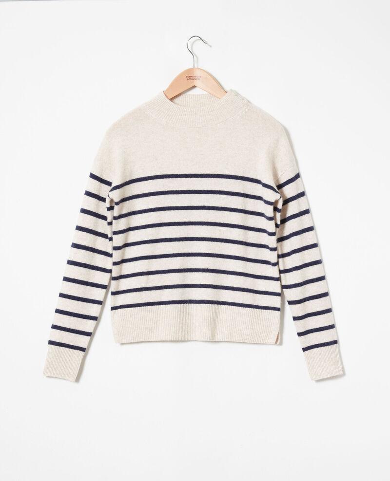 100% Striped cashmere jumper Butter/evening Jolimer
