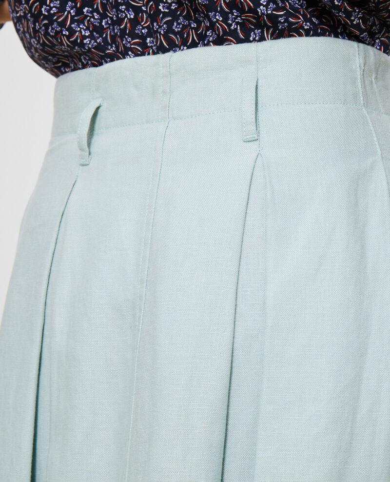 Mid-length linen skirt Blue haze Lorlange