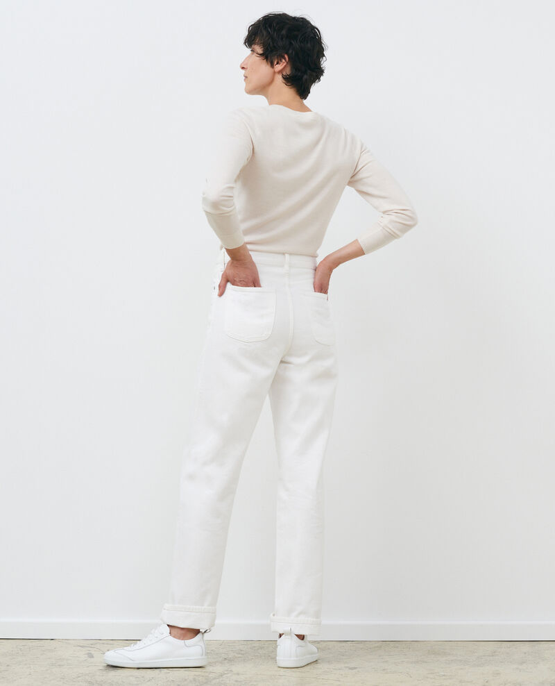 Round neck merino wool jumper Gardenia Passy