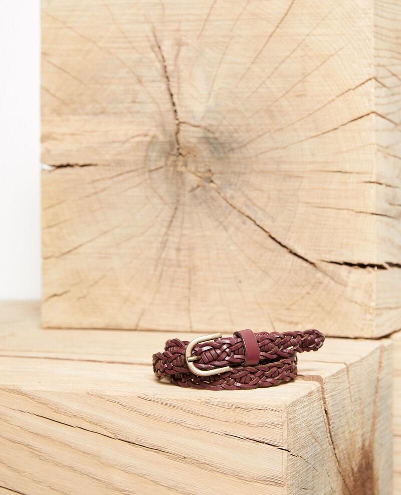 Braided leather belt Decadente chocolate Glane