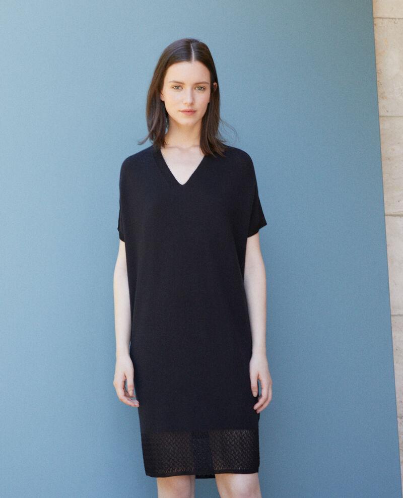 Zero-stitching knitted dress Black Gedith