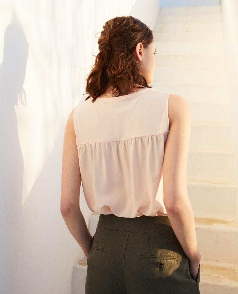 Fabric blend vest Light pink Imotep