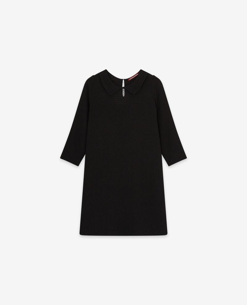 Peter Pan collar dress Noir Donatella