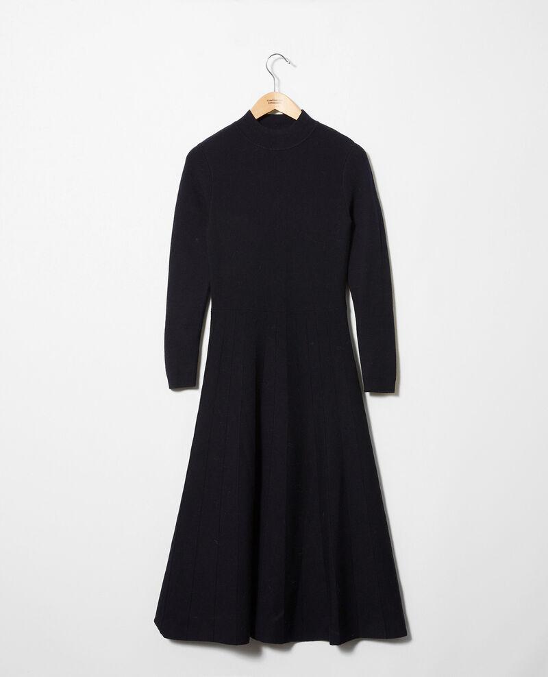 Long knitted dress Dark navy Jadame