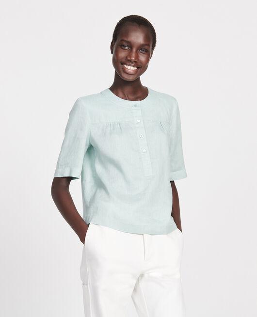 Linen blouse BLUE HAZE