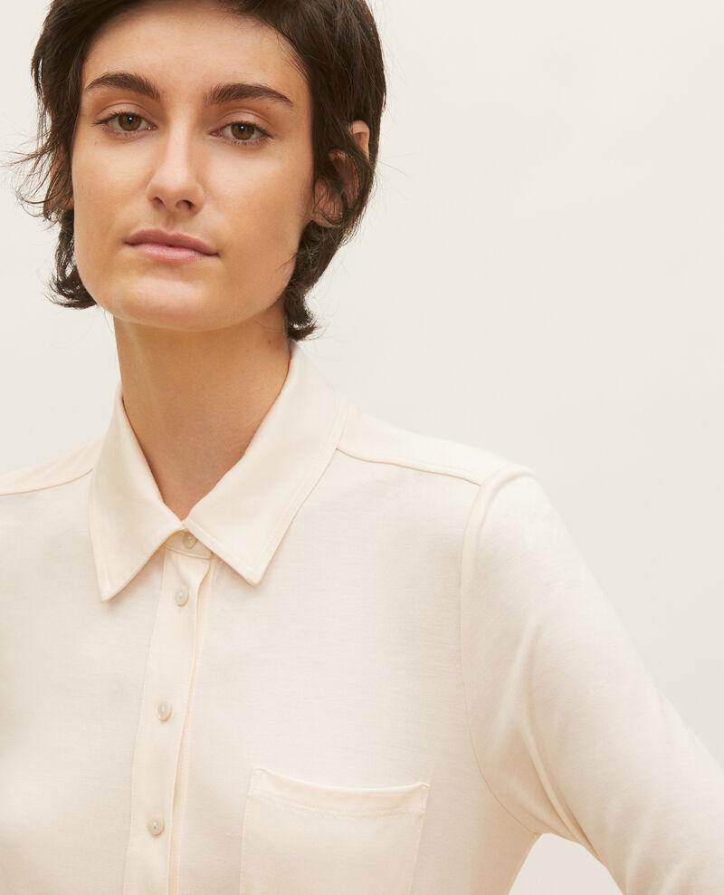Silk jersey shirt Buttercream Leanor