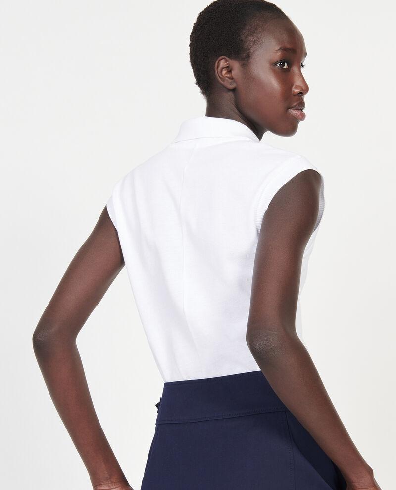 Cotton polo shirt Optical white Laurac