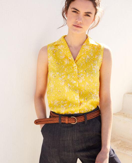 Sleeveless cotton shirt PRIMULA SY