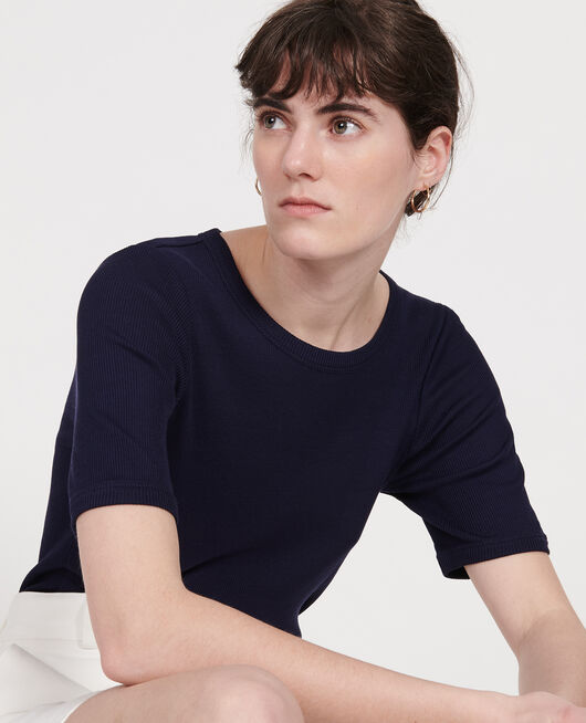Cotton T-shirt MARITIME BLUE