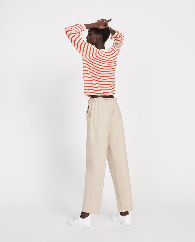 Linen and cotton trousers Oxford tan Loranki