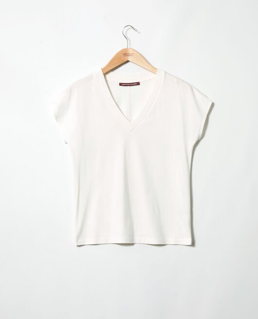 T-shirt col V OFF WHITE