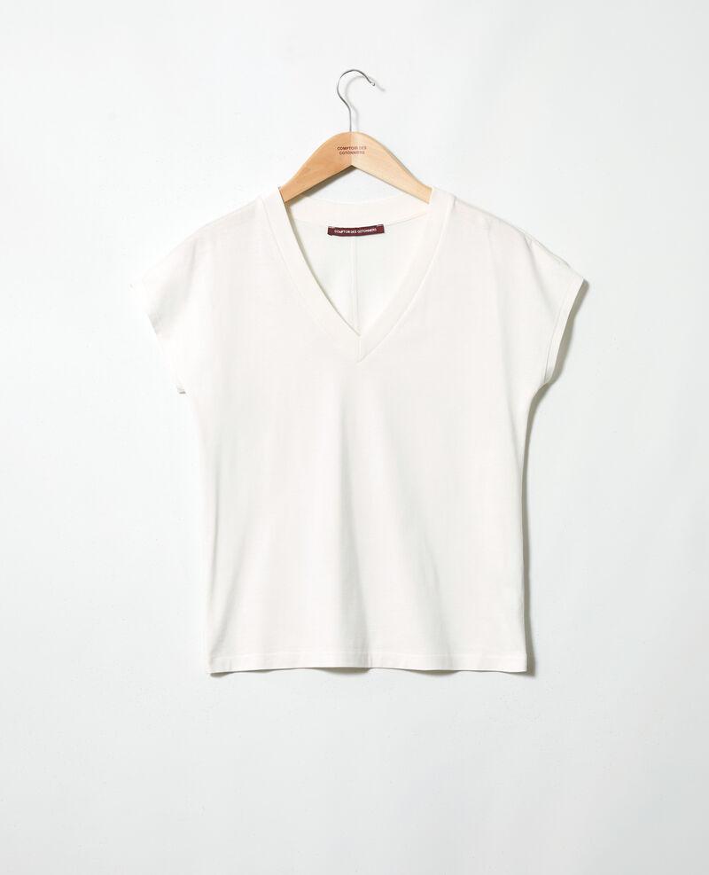 T-shirt col V Off white Ifallena
