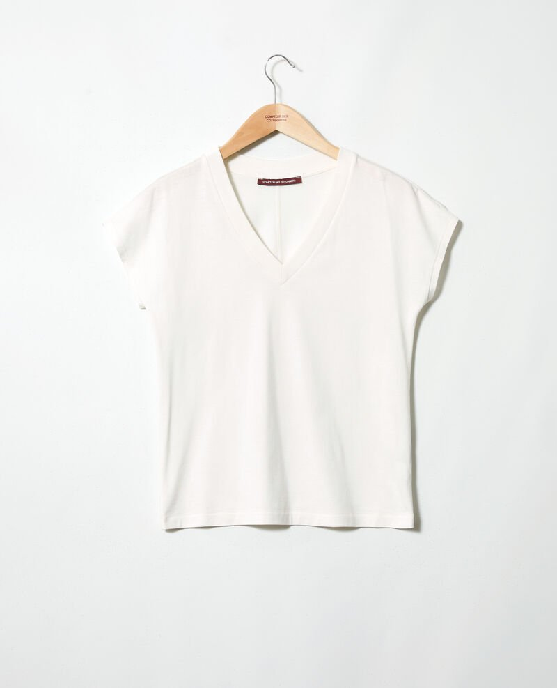 V-neck T-shirt Off white Ifallena