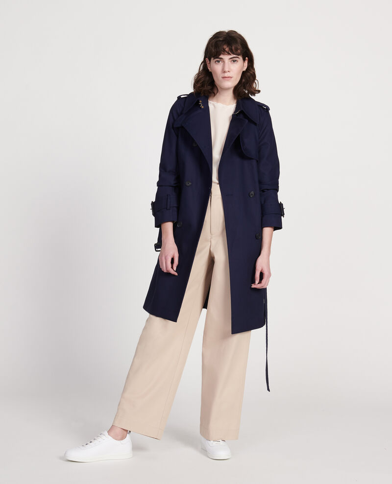 Timeless trench coat Maritime blue Lambert